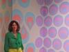 Weinberg with painted corner installation