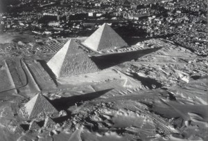 """Three Pyramids of Giza with Cairo"" 1993"