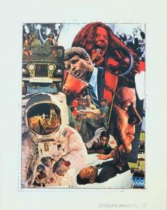 """""""Signs"""" 1970, Silkscreen Print 43"""" x 34"""""""