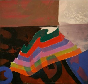 """Stratalure"" 1980, oil and acrylic on canvas, 72"" x 74"""