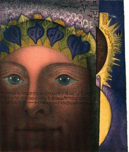 """""""Head"""" 1958-1988, hand-colored lithograph, 9"""" x 7 7/8"""""""